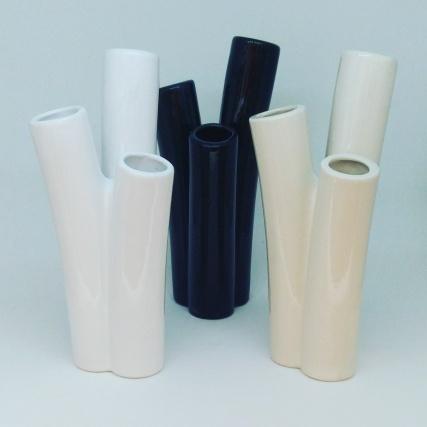 Rammo, florero de ceramica (colores)